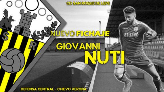 El San Roque de Lepe incorpora a sus filas al defensa central italiano Giovanni Nuti