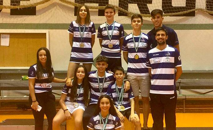 La cantera del Recre IES La Orden estrenó curso con nueve medallas en el Trofeo Andalucía Sub 13 y Sub 17