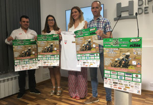 Un momento de la presentación de la prueba del Campeonato Interprovincial de Motocross que se celebrará el domingo en Valverde del Camino.