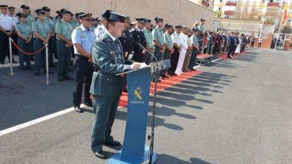 El nuevo coronel jefe de la Comandancia  de la Guardia Civil en Huelva, Andrés López, toma posesión de su cargo