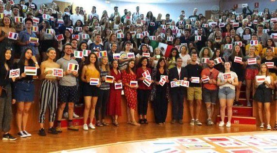 La UHU da la bienvenida a 409 estudiantes de programas de movilidad internacional