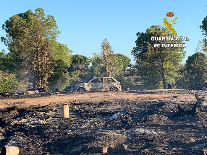La Guardia Civil detiene a la supuesta autora del incendio del asentamiento chabolista de Palos de la Frontera
