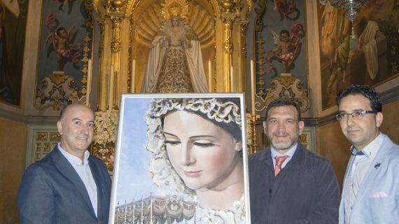 La Hermandad de la Borriquita entrega un cuadro como recuerdo de la coronación