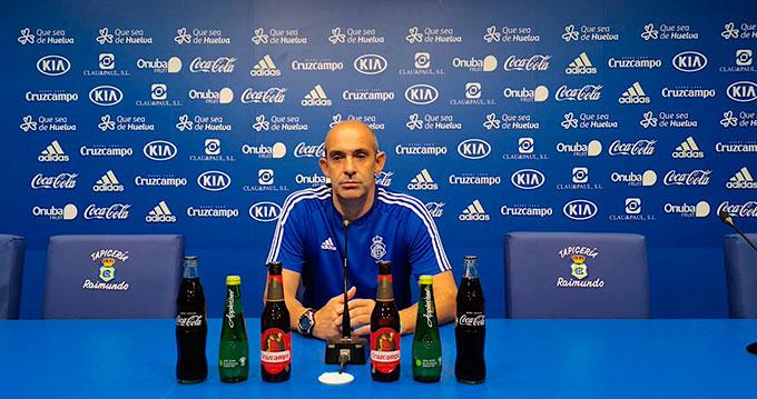 Alberto Monteagudo, entrenador del Recreativo de Huelva. / Foto: @recreoficial.