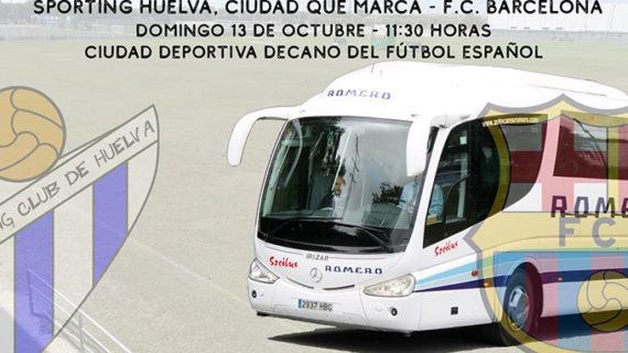El Sporting de Huelva pondrá un autobús para que sus socios puedan ir el domingo a la Ciudad Deportiva del Decano