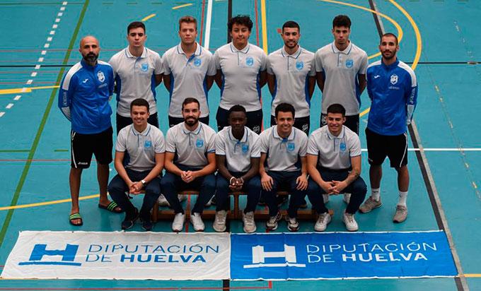 Formación del CD Sordos Huelva, que toma parte en el Europeo de Fútbol Sala Sub 21.