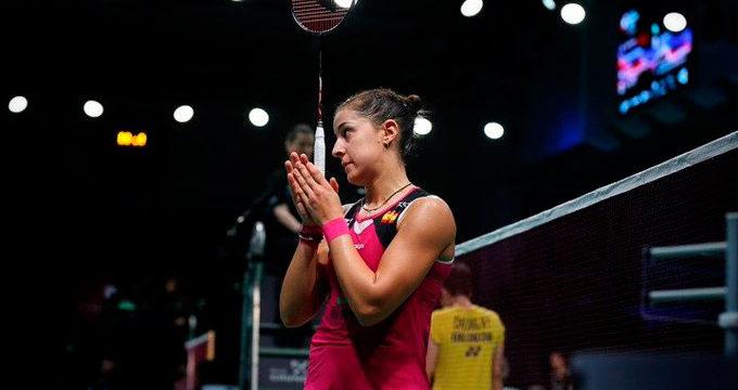 El brillante camino de Carolina Marín en el Open de Dinamarca acabó en la semifinal ante Okuhara