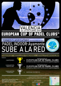 Cartel anunciador del torneo de pádel del fin de semana en Ayamonte.