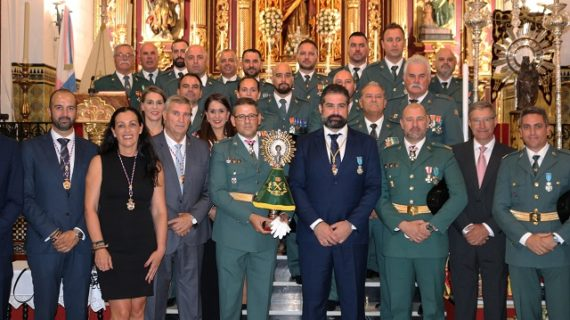Celebración del Día del Pilar en Cartaya con la presencia de la Guardia Civil