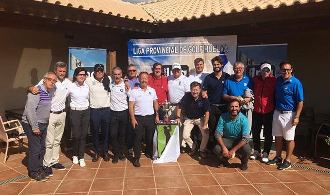 Componentes del Club Bellavista, que conquistaron su séptima Liga Provincial de Golf.