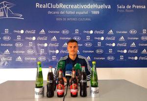 """Gerard Vergé señaló en rueda de prensa que """"vamos a marcar goles y ganar partidos"""". / Foto: @recreoficial."""
