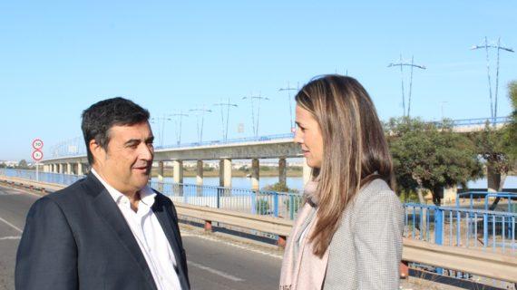 La luminaria del Puente del Odiel será renovada con un sistema más eficiente