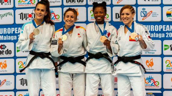 Almudena Gómez da al TSV Judo Huelva una medalla de bronce en la European Cup de Málaga