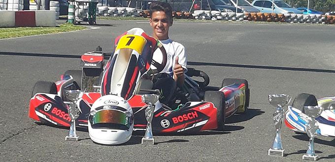 El piloto onubense José Luis Cisneros, cerca de proclamarse campeón de Andalucía de Karting