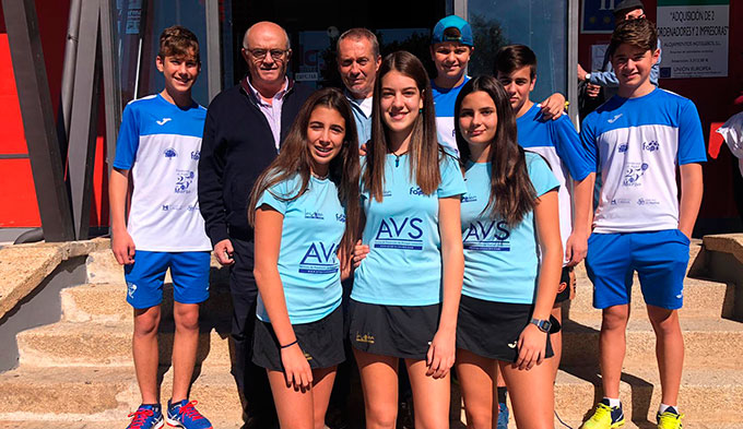 Expedición del AVS La Volea para el Campeonato de España Infantil por Equipos de Segunda Categoría.