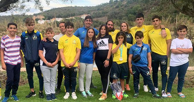 Los palistas del Club Deportivo Náutico Punta Umbría dejan buenas sensaciones en la XXII Subida del Río Arade de Piragüismo