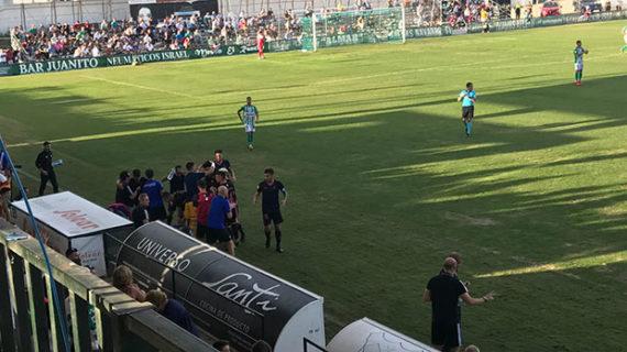 El Recre se tiene que conformar con la pedrea de un punto en su visita al Atlético Sanluqueño (1-1)