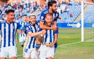 Ganar de nuevo en casa, el objetivo del Recre en su partido de este domingo ante el Cartagena. / Foto: @recreoficial / P. Sayago.