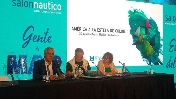 La Regata Oceánica Huelva-La Gomera, presentada en el Salón Náutico Internacional de Barcelona