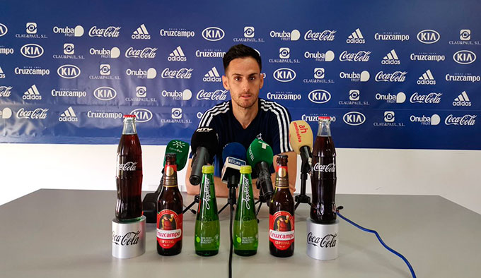 Rubén Cruz, muy contento con poder ayudar de nuevo al equipo. / Foto: @recreoficial.