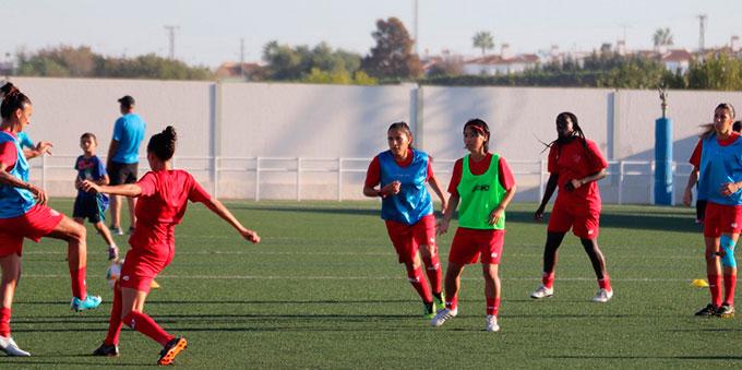 El Sporting Huelva ya espera en Valencia el partido que con seguridad no se juegue