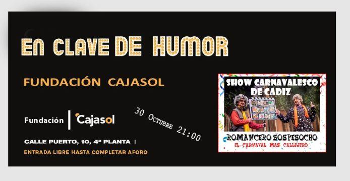 Show Carnavalesco de Cádiz para finalizar el ciclo 'En clave de humor' en Huelva