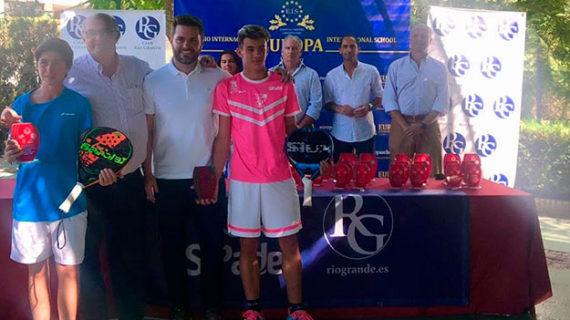 Triunfo del santaolallero Antonio Jesús Ramos en la quinta prueba del Circuito Andaluz de Menores de Pádel