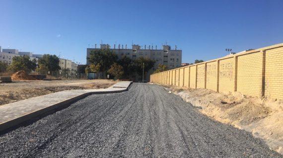 El nuevo acceso al parking del Hospital Juan Ramón Jiménez estará listo en noviembre