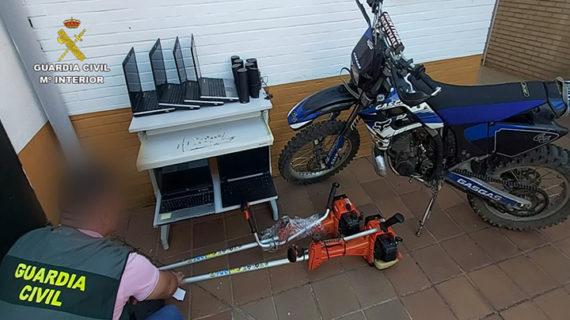 La Guardia Civil esclarece ocho robos perpetrados en la localidad de Nerva
