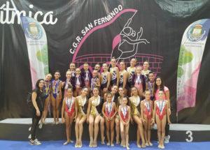 Representantes del Rítmico Colombino en el torneo celebrado en San Fernando.