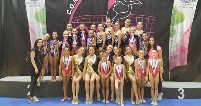 Festival de medallas para el Club Rítmico Colombino en las dos citas del pasado fin de semana