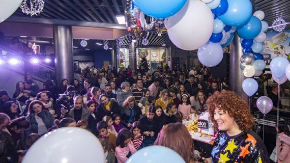 Explosión de regalos en la fiesta del 15 aniversario de Aqualon