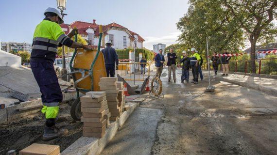 Avanzan a buen ritmo las obras de mejora de la accesibilidad turística del Barrio Obrero