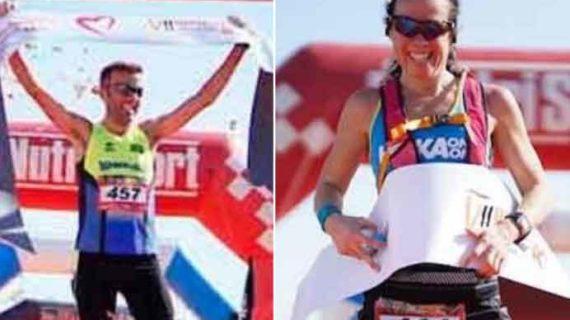 Francisco Pérez y Johana Nilson, vencedores en la VII Doñana Trail Marathon entre Sevilla y El Rocío