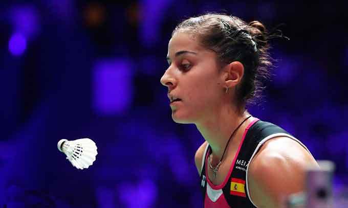 Carolina Marín vence a Kim Ga Eun y se clasifica para la final del Internacional de India. / Foto: Badminton Photo.