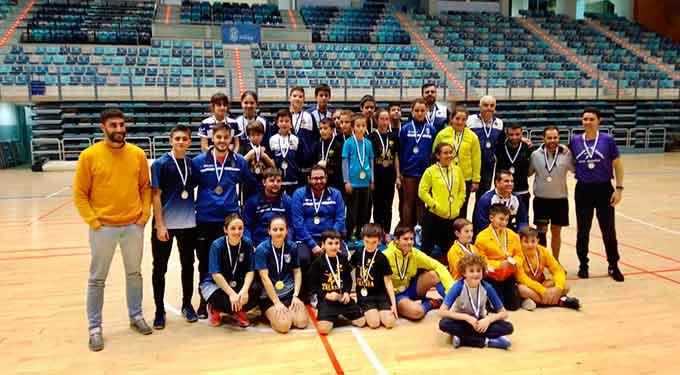 Componentes del Recre IES La Orden en la jornada del Circuito Provincial de Huelva.