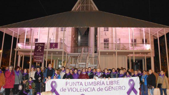 Punta Umbria dice no a la violencia contra la mujer