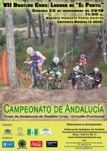 Cartel anunciador del VII Duatlón Cros 'Laguna de El Portil'.
