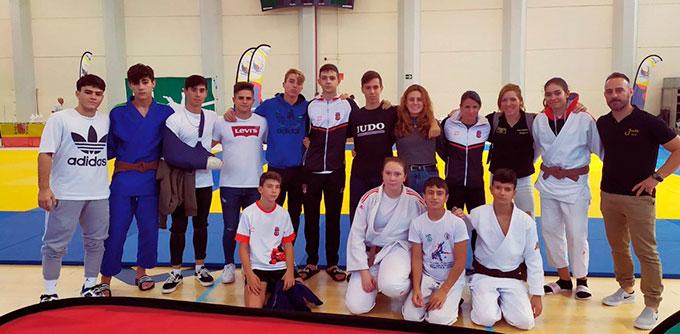 Los representantes del Club TSV Judo Huelva completaron un digno papel en el Trofeo Colombino. / Foto: @JudoHuelva1.