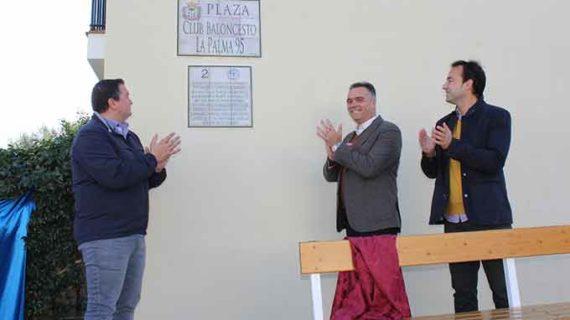Inaugurada una plaza con el nombre de Club Baloncesto La Palma 95 en la localidad condal