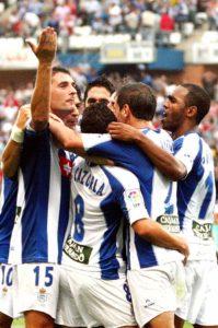 Grandes jugadores se vistieron la camiseta del Decano en el Nuevo Colombino. / Foto: Alberto Domínguez / Huelva Información.