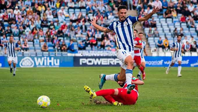 El Recre quiere superar su mal momento y ganar este sábado al Villarrubia en su campo. / Foto: @recreoficial / P. Sayago.