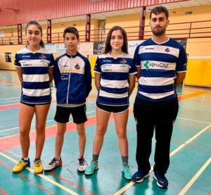 Representantes del club onubense en la concentración 'Se Busca Campeón' disputada en Montilla.