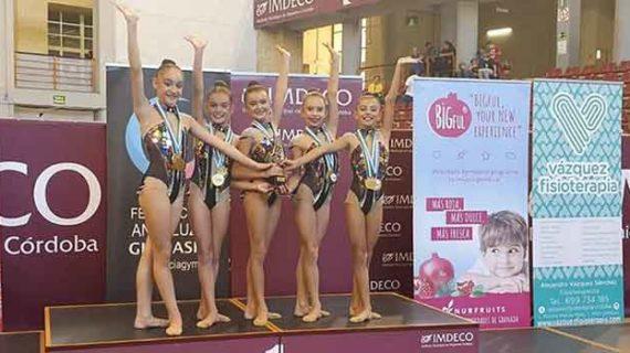 El GR Huelva, presente en el Campeonato de España Base y la Copa de España de Conjuntos de gimnasia rítmica