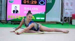 Merecido oro para Anastasia Salos en aro.