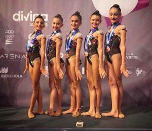 El conjunto Alevín Absoluto del GR Hueva se colgó el bronce en Pamplona.