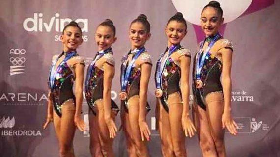 Una medalla de bronce se trae el Gimnasia Rítmica Huelva de la Copa de la Reina de Conjuntos