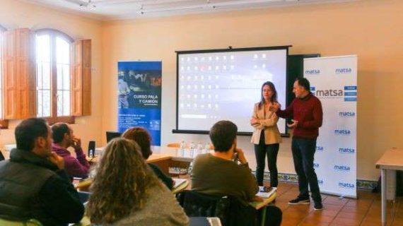 MATSA imparte un curso de formación de Operador de Camión y Pala para personas desempleadas de la comarca