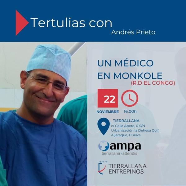 Andrés Prieto cuenta a los escolares su experiencia como médico en el Congo