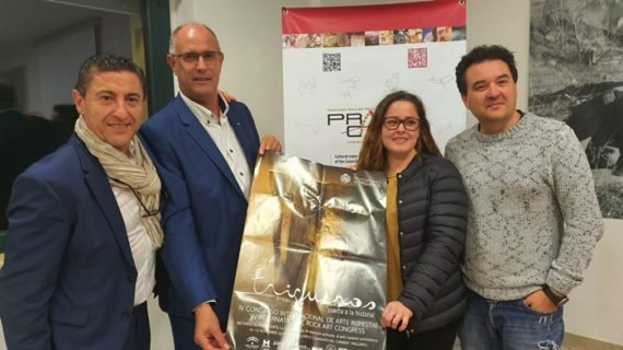 Trigueros presenta el IV Congreso Internacional de Arte Rupestre en Valcamonica, Italia